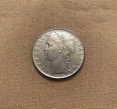 1958 *R* Italy 100 Coin - Stainless Steel - Mint State condition - RARE COIN