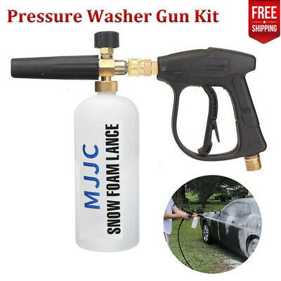 Pressure MJJC Snow Foam Lance Gun Kit Car Wash 1L Bottle Jet Soap Spray Cannon