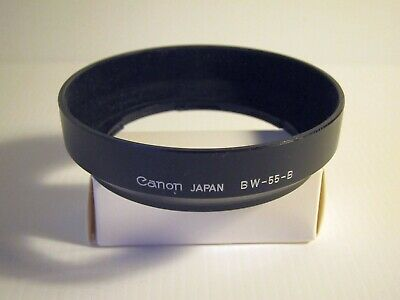 Canon BW-55-B lens hood. Suits 28mm, 24mm.