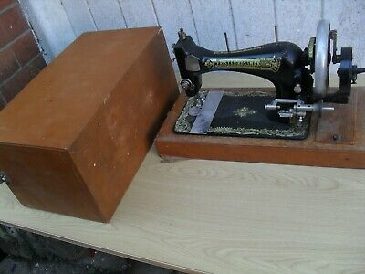 vintage frister rossman  hand cranked sewing machine coventry
