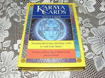 Karma Cards by Monte Farber Planet, Sign & House cards plus Guidebook VGC