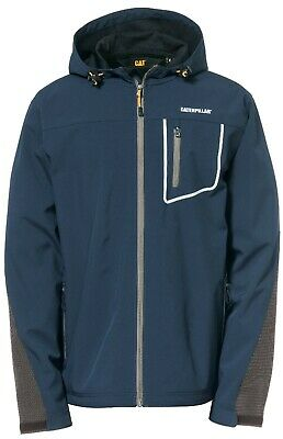 Caterpillar Capstone marine blue water-resistant breathable hooded soft-shell