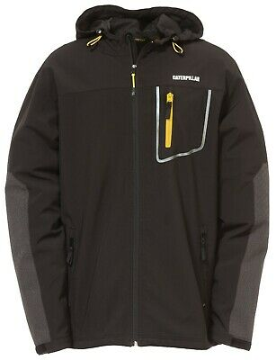 Caterpillar Capstone black water-resistant breathable hooded soft-shell jacket