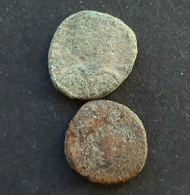 Byzantine bronze coins. Lot of 2 coins.