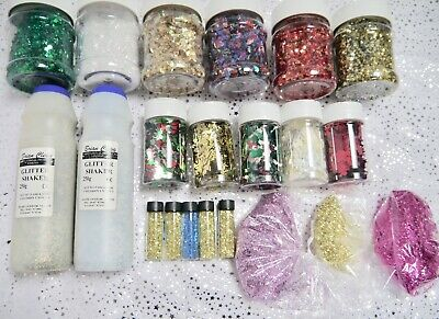Glitter shakers - sparkly shapes, colours, sizes -sprinkle some crafty magic!