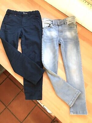 Zara And Next Boys Skinny Jeans Chinos Aged 6yrs X2