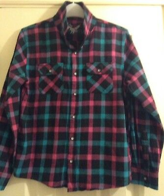 12 years Shirt check M&S boys/ girls Top 30.5 chest. worn 1 suit Jeans trousers
