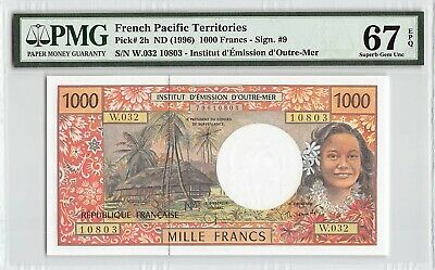 Francs ND 2014 P-7 French Pacific Territories UNC 5,000 5000