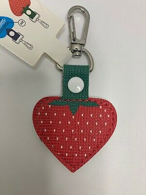 Aldi Store Quarter Keeper Key Chain Strawberry Shaped Fob Authentic New