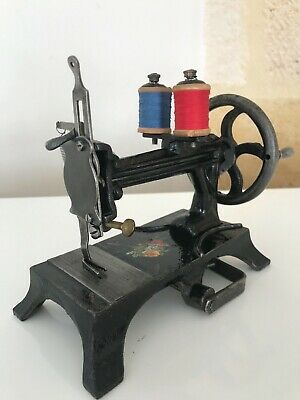 Gorgeous!!! Antique French Toy Sewing Machine Benoit Lakner 1850 Very Rare!!!