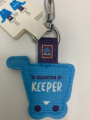 NEW Aldi Quarter Keeper - Grocery Cart Key Chain Fob
