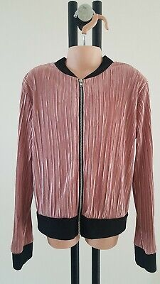 Girls RIVER ISLAND Lightweight PLEATED blush pink BOMBER JACKET party