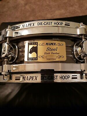 Mapex black panther piccolo snare drum w/carrying case