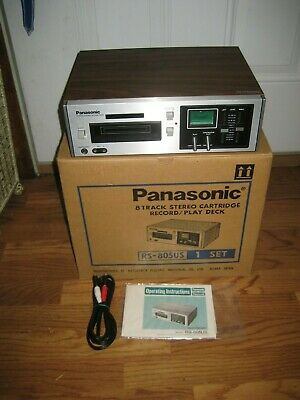 Panasonic Rs-805Us 8-Track Stereo Record/Play Deck. Absolutely Mint-In-Box!!!