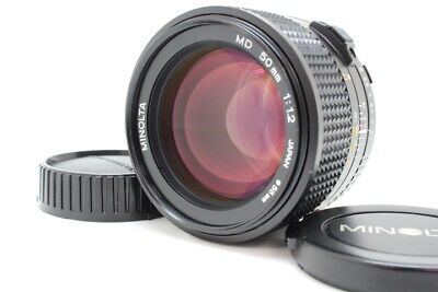 【 ALMOST UNUSED 】 MINOLTA New MD 50mm F1.2 NMD MF Prime MD Mount Lens From JAPAN