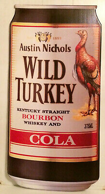 Vintage Rare Wild Turkey & Cola Can Large Corflute Advertising Display Sign