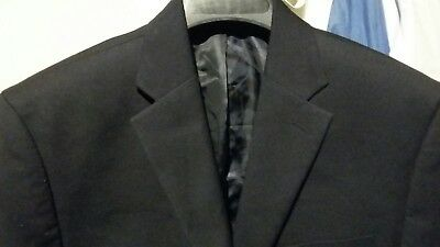 MICHAEL KORS 2BTN Men's Black Sport Blazer Jacket Size 40S - One Button missing