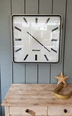 Huge French Bodet 50s Midcentury Factory Retro Vintage Industrial Wall Clock