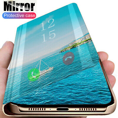 360° Clear View Mirror Flip Leather Cover for iPhone 11 Pro Max Xs XR X 6S+ Case