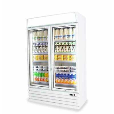 Capital Pavo-2D Upright Double Glass Door Refrigerator-Graded