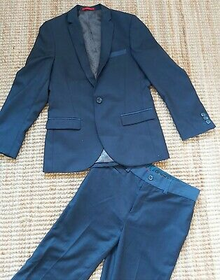 Boys NEXT age 10 SUIT blue NAVY 2 piece wedding occasion FREE POST