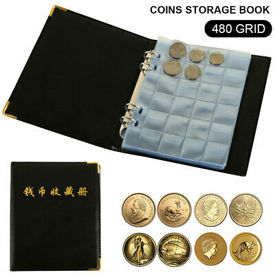 480 Coins Collection Collecting Pockets Album Penny Book Storage Money OZ Holder