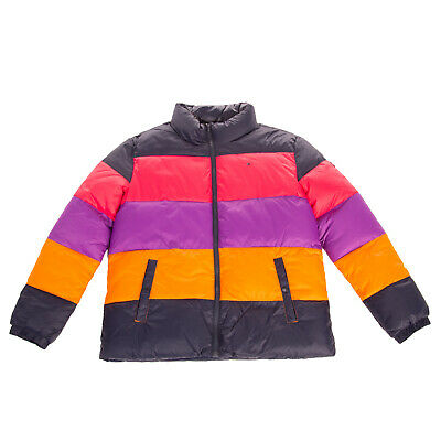 RRP €150 TOMMY HILFIGER Puffa Jacket Size 12Y 152CM Colour Block Full Zip Funnel