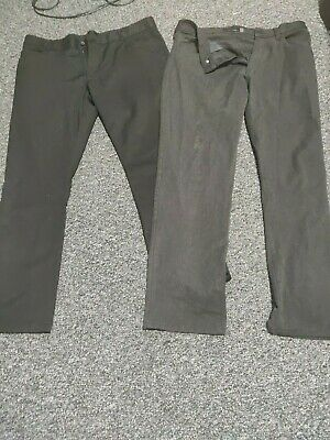 two pairs of mens smart trousers one b next one by pierre cardin  w36 leg 31