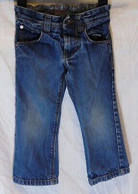 Boys Next Classic Mid Blue Denim Adjustable Waist Relaxed Fit Jeans Age 3 Years