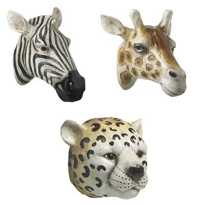Wall Mounted Hanging Resin Animal Head Ornament Decoration Realistic Display