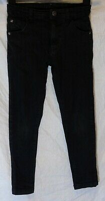 Boys George Black Denim Adjustable Waist Classic Fit Jeans Age 7-8 Years