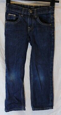 Boys M&S Autograph Blue Denim Adjustable Waist Relaxed Fit Jeans Age 6 Years