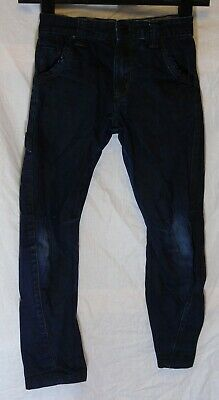 Boys George Dark Blue Denim Adjustable Waist Twisted Leg Jeans Age 6-7 Years