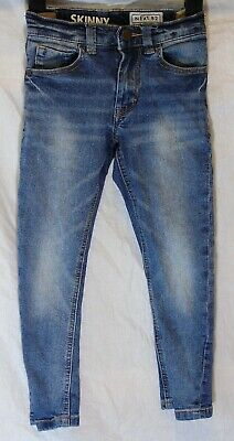 Boys Next Blue Whiskered Denim Adjustable Waist Skinny Fit Jeans Age 5 Years