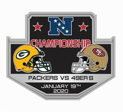 Nfl Nfc Championship Dueling Pin 49Ers Packers 2019 2020 Superbowl 54 Ship 1/27