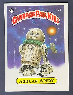 1985 Series 1 Garbage Pail Kids #19A Ashcan Andy Nm-Mint Sharp High Grade!!!