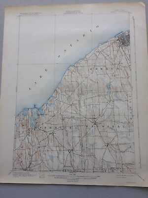 USGS Antique Topographic Map,OSWEGO, NY, 1898, Edition of 1900, Reprinted 1932