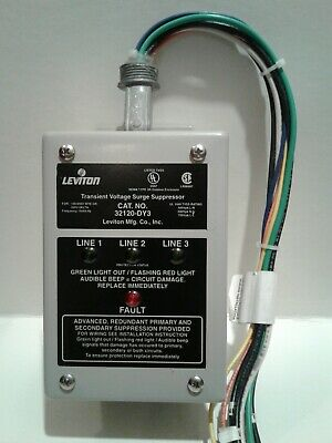 New Leviton Transient Voltage Surge Suppressor 32120-DY3 (Not in Box)