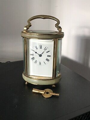VINTAGE Onyx and Brass Carriage clock - Duverdry & Bloquel