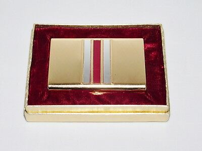 VTG Elizabeth Arden New Old Stock in Box Makeup Mirror Compact Etched Goldtone