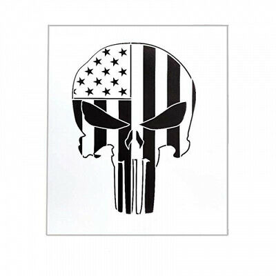 (Punisher Skull) - OBUY Punisher Skull Stencil for Painting on Wood, Walls,