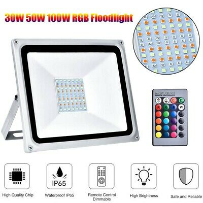 LED Security Floodlight Outdoor Light 30W 50W 100W Flood Lights Color Changing