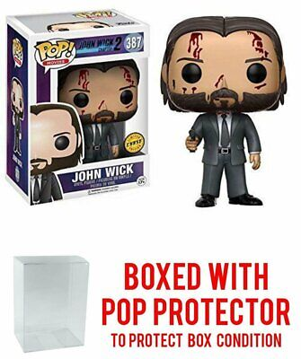 Funko Pop John Wick Chapter 2 Bloody Chase #387 With Protector Box Smudge/Damage