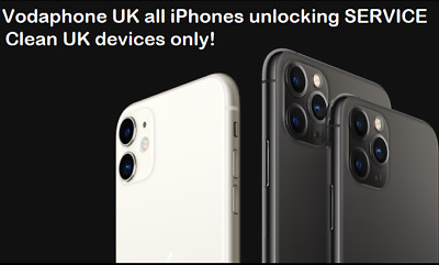 Vodafone UK iPhone 11 11 PRO MAX unlocking service ONLY IMEI 5-6 WEEKS FAST