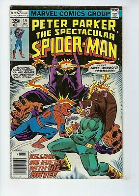 PETER PARKER, SPECTACULAR SPIDER-MAN # 14 (Cents, Jan 1978), VG