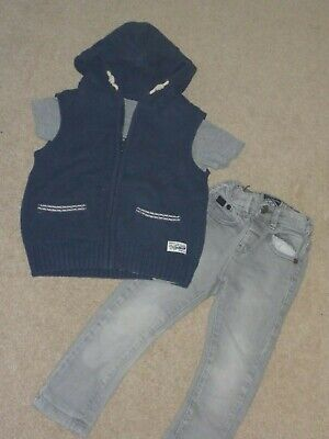 NEXT boys 18-24 month, 11/2-2 years skinny jeans and hooded jumper