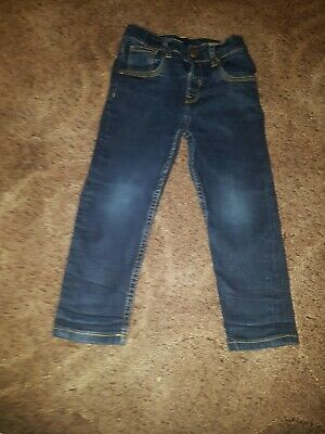 Boys Navy Blue Jeans Size 3-4 Years