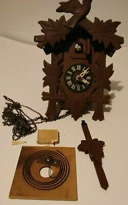 Black Forest German Hand Carved German  Cuckoo Clock AS IS for parts