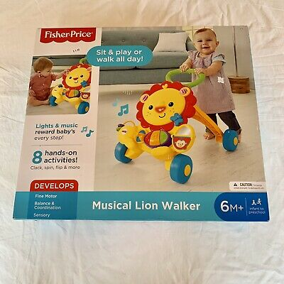 Fisher Price Musical Lion Walker NEW