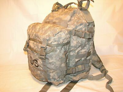 US ARMY ACU ASSAULT PACK 3 DAY MOLLE II BACKPACK w/ Stiffener VGC Made in USA
